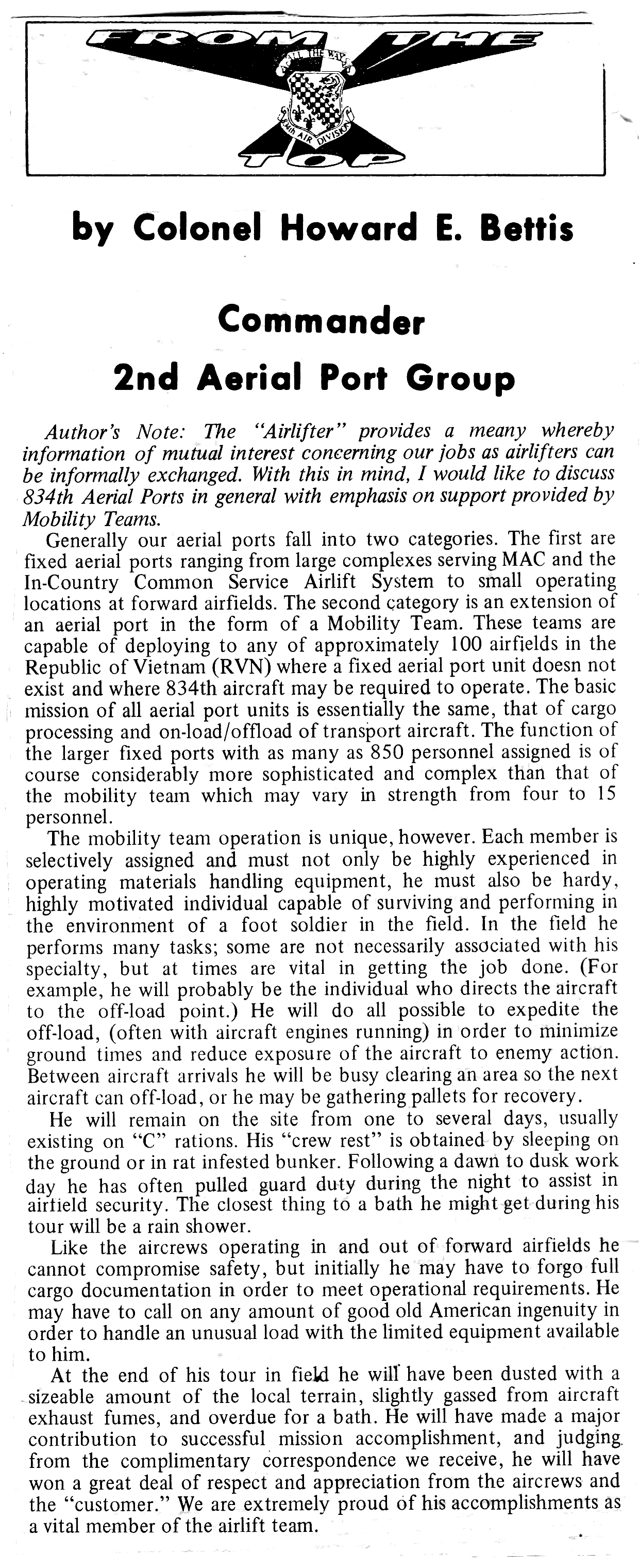 Col. Bettis